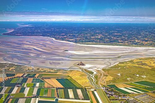 Mont saint Michel et granville vus du ciel Canvas Print