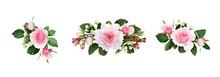 Set Of Small Floral Arrangemen...