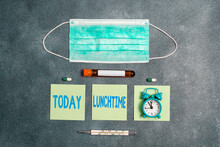 Handwriting Text Writing Lunch...