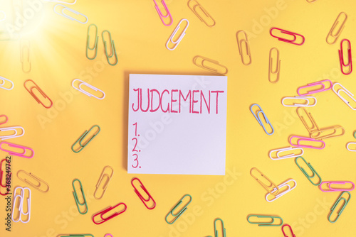Writing note showing Judgement Canvas Print