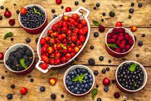 Assorted Berries In Bowls: Bil...