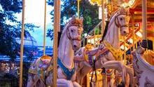 Carousel Horses In The Park