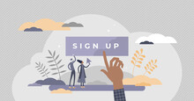 Sign Up To Create New Account ...