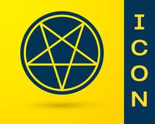 Blue Pentagram In A Circle Ico...