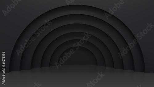 Vászonkép Black modern empty scene mock up 3d render