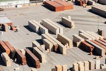 Piles Of Bricks In Store Area ...