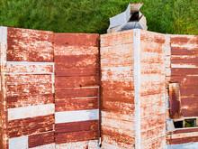 Textured Rusty Metal Corrugate...