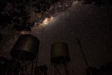 Milky Way Over Fuel Tanks