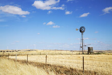 Farm Windmill And Tank With Wi...