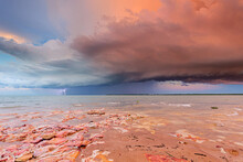 Sunset Storm Cloud With Lightning, Darwin