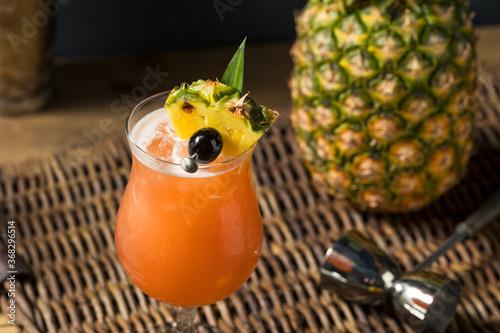 Fotografia, Obraz Homemade Refreshing Singapore Sling Cocktail