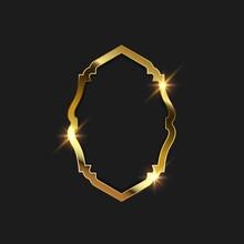 Gold Frame Vector Illustration...