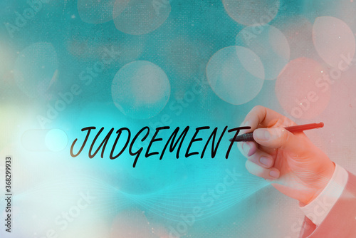 Text sign showing Judgement Canvas Print