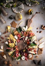 Festive Charcuterie And Cheeseboard Platter
