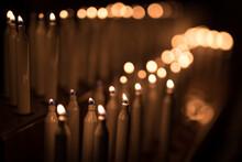 Votive Candles In A European C...