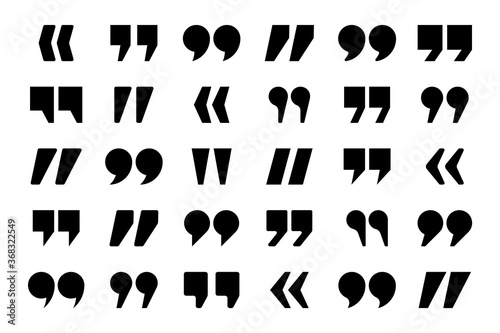 Fotomural Quotation marks vector collection
