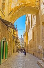 The Via Dolorosa Street, Jerus...