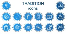 Editable 14 Tradition Icons Fo...