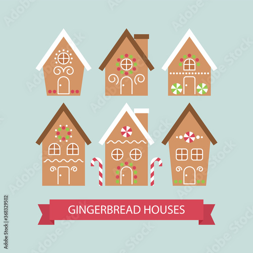 Cute houses of gingerbread