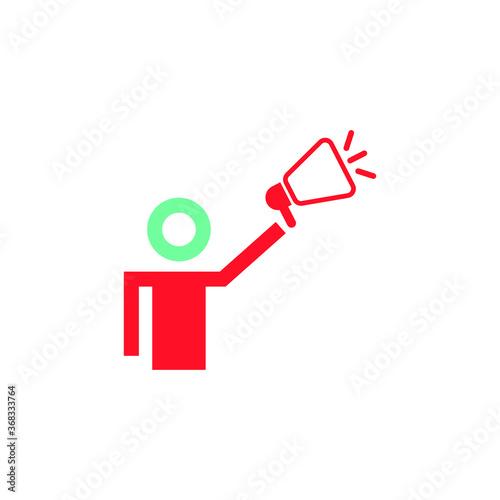 brand ambassador vector icon logo design Canvas Print