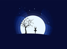 Ballerina And The Moon