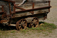 Wood Mining Ore Cart