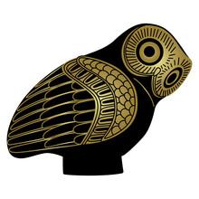 Stylized Owl. Ancient Greek Ar...