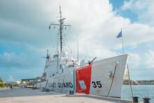 United States Coast Guard. Florida Coastguard Ship.