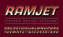 Racing Alphabet; Font For Motorsports Or Airshow Logos Or Vehicles. Ramjet Refers To A Type Of High-Powered Jet Engine.