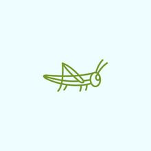 Grasshopper Logo Vector Silhouette Icon