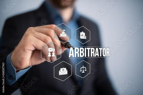 arbitrator Canvas Print