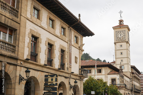 Old town of Guernica in the Basque Country, Spain Canvas Print