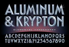 Aluminum & Krypton Alphabet; A...