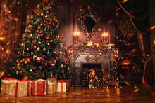 Indoor Christmas Scene