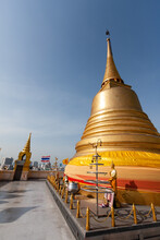 The The Golden Mount At Wat Sa...