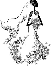 Elegant Bride. Woman In A Flor...