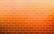 canvas print picture - Orange brickwall textured background. Abstract illustration.