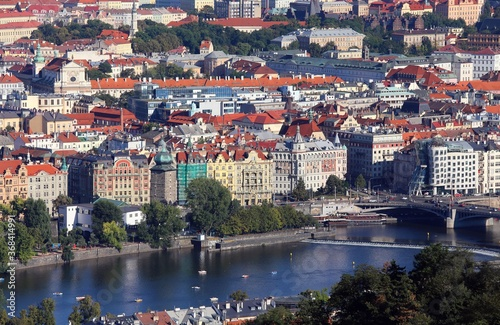 Fotografie, Obraz panorama of the city of prague seen from Petrin hill