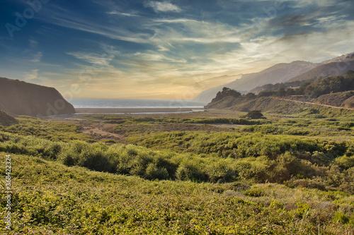 Exploring the coast near San Simeon California Canvas-taulu