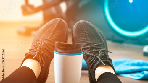 Photo Sports background with blue accent