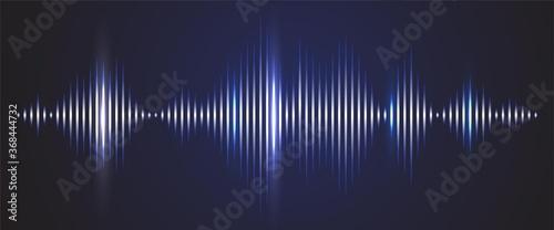 Tablou Canvas Sound wave digital background