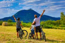 Happy Family Biker- Sport, Challenge, Pride Concept