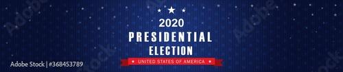 Fotografie, Obraz Vector background for US presidential election 2020