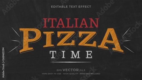Fototapeta Pizza chalk premium editable text effect obraz