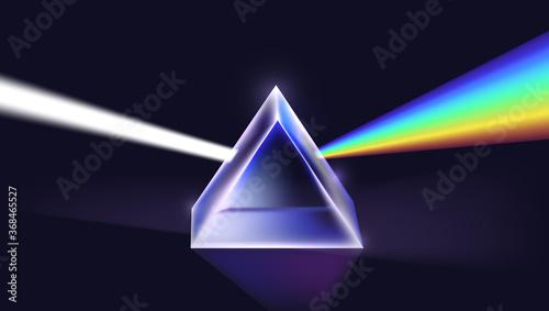 Physics Light Passing Through A Triangular Prism Fototapet