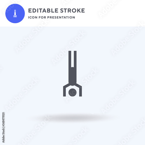 Tablou Canvas Handstand icon vector, filled flat sign, solid pictogram isolated on white, logo illustration