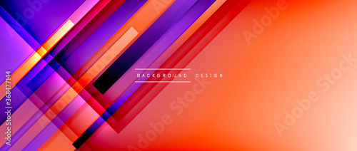 Fototapeta Dynamic lines on fluid color gradient. Trendy geometric abstract background for your text, logo or graphics obraz