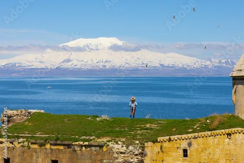 Carpanak island and Suphan mountain / VAN - Turkey Wallpaper Mural