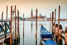 Venezia. Gondole Nel Bacino Di...