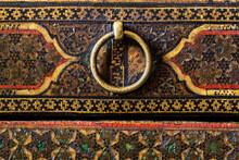 Macro Shot Of An Old Khatam Box Surface Texture